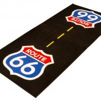 Tapis moto custom environnemental Route 66
