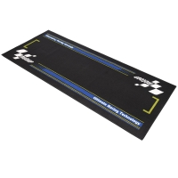 Tapis de paddock Moto GP Noir / Bleu