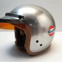Casque jet + visière GULF Steel Acier brut