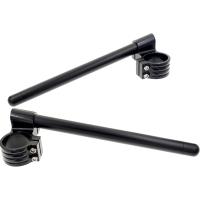 Demi guidons Noir 50mm rehaussé bracelets + tubes