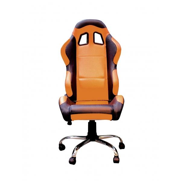 Fauteuil de bureau baquet Orange