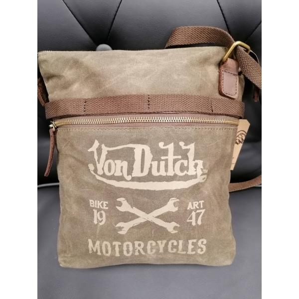 Sac besace Von Dutch Canvas cuir