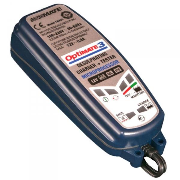 Chargeur de batterie moto Tecmate Optimate 3