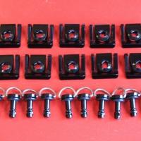 Kit 1/4 de tour noir 10x vis Dzus Ø17mm Alu
