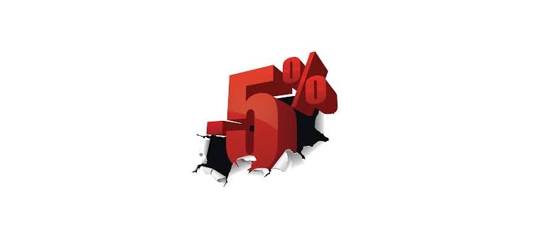 Bienvenue = -5%