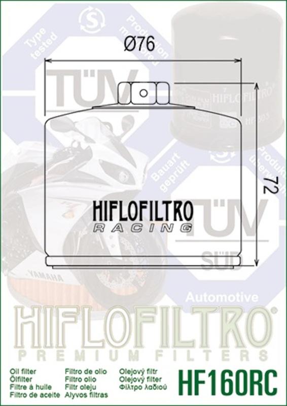 Filtre à huile HIFLOFILTRO Racing - HF160RC
