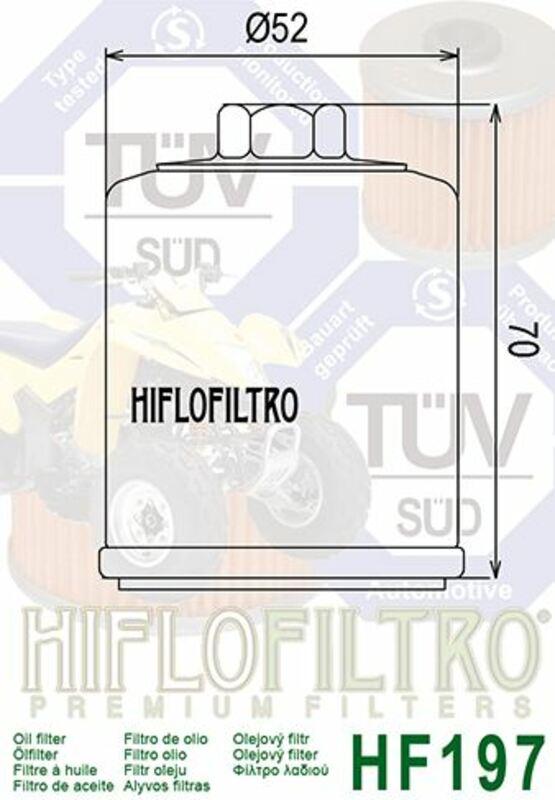 Filtre à huile HIFLOFILTRO - HF197