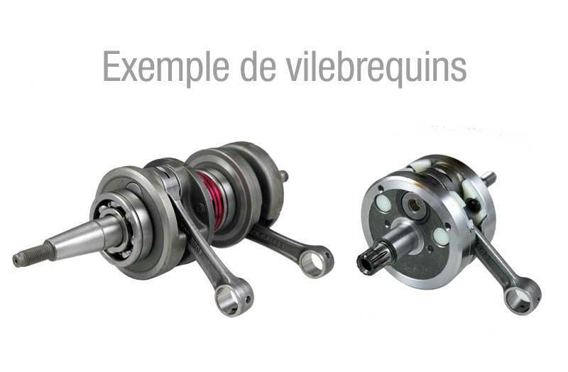 Vilebrequin complet HOT RODS type origine - Suzuki LT-R450