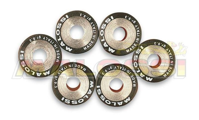 Jeu de galets MALOSSI 16x13mm 2,7gr - 6 pièces