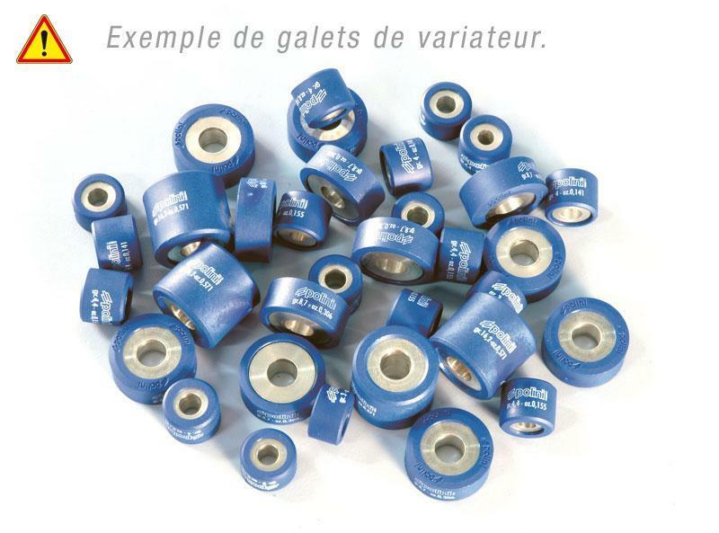 Jeu de galets POLINI 20x17mm 13,2gr - 6 pièces
