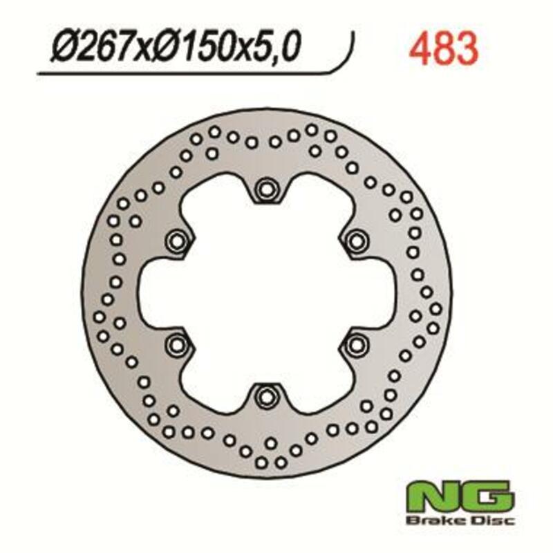 Disque de frein NG BRAKE DISC fixe - 483