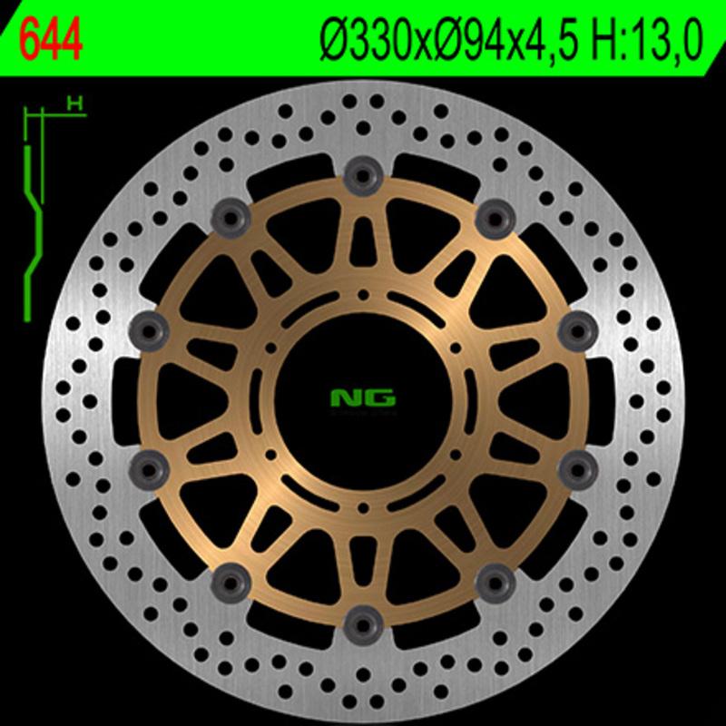 Disque de frein NG BRAKE DISC Flottant - 644