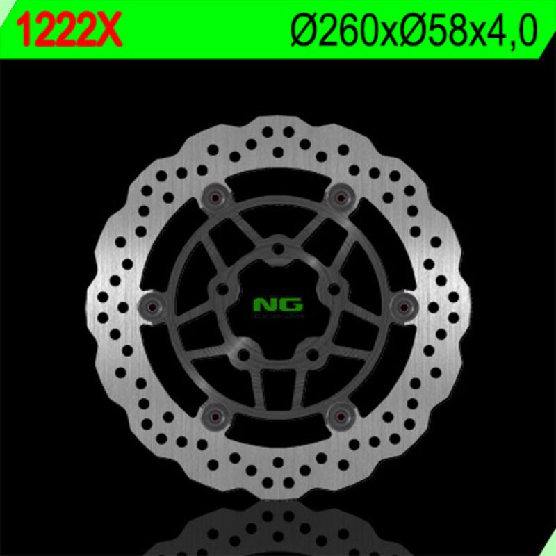 Disque de frein NG BRAKE DISC Pétale Flottant - 1222X