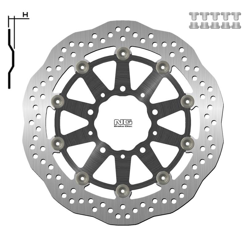 Disque de frein NG BRAKE DISC Pétale Flottant - 1558XG