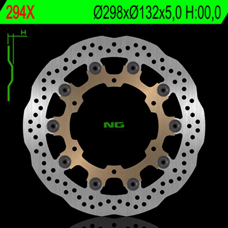 Disque de frein NG BRAKE DISC Pétale Flottant - 294X