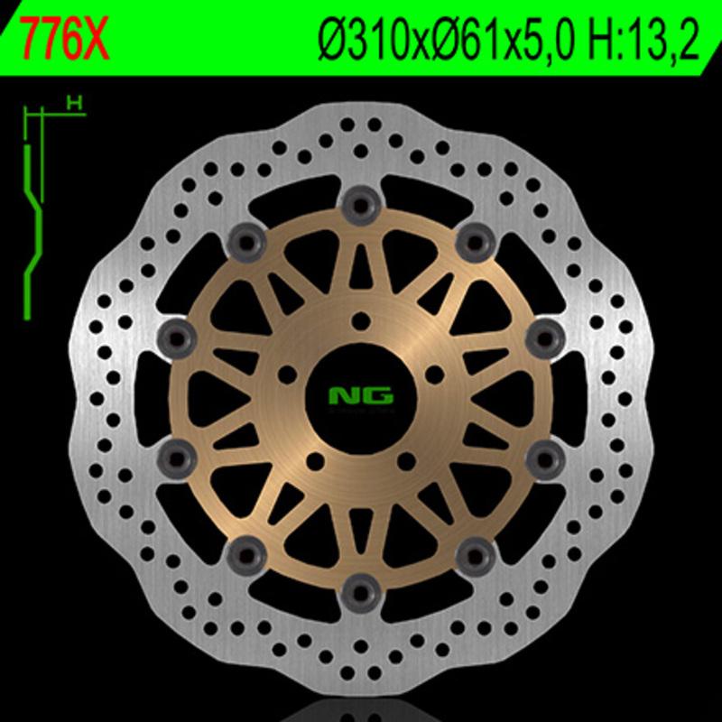 Disque de frein NG BRAKE DISC Pétale Flottant - 776X