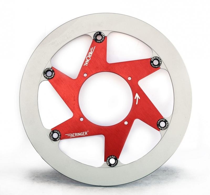 Disque de frein BERINGER Aeronal fonte flottant rouge - S10LGRF