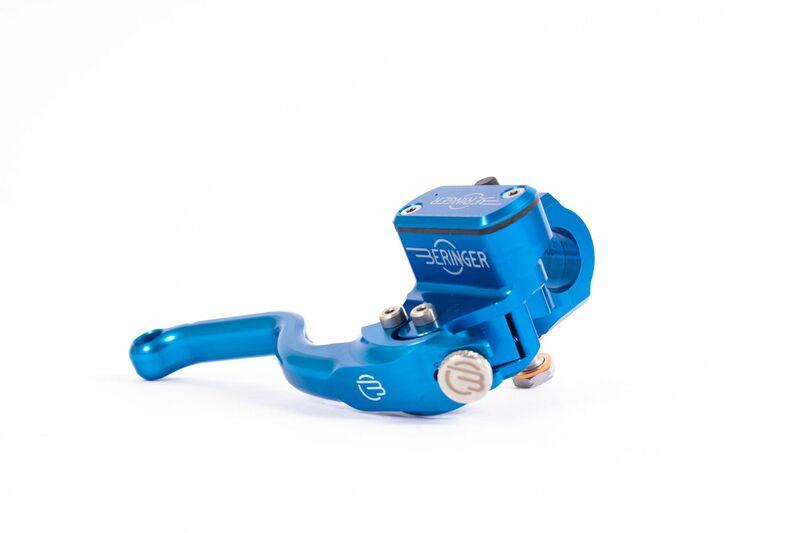 Maître-cylindre de frein radial BERINGER Aerotec® Ø14,5mm bocal integré bleu (levier type 2 - 14cm)