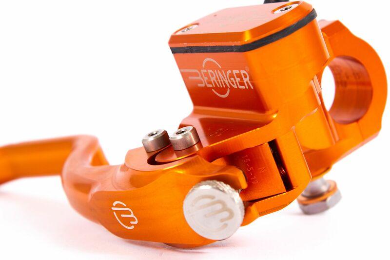 Maître-cylindre de frein radial BERINGER Aerotec® Ø14,5mm bocal integré orange (levier type 2 - 14cm)