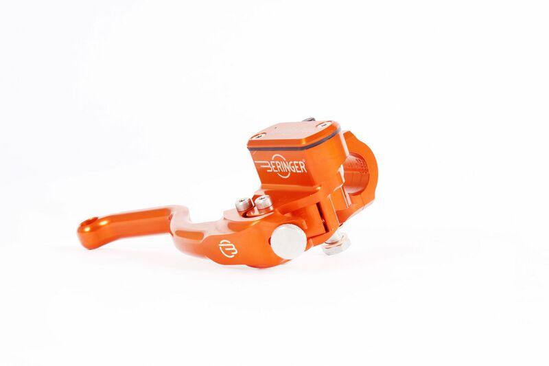 Maître-cylindre de frein radial BERINGER Aerotec® Ø17,5mm bocal integré orange (levier type 2 - 14cm)