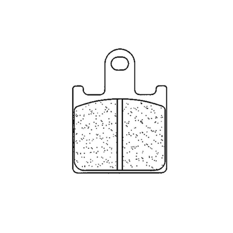 Plaquettes de frein CL BRAKES Racing métal fritté - 1177C60