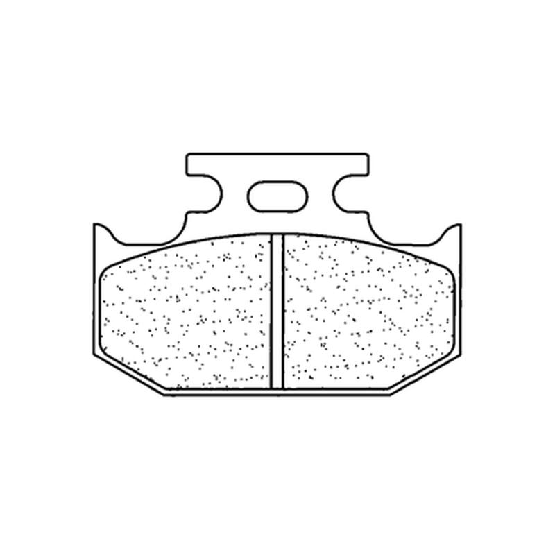 Plaquettes de frein CL BRAKES Racing métal fritté - 2299RX3
