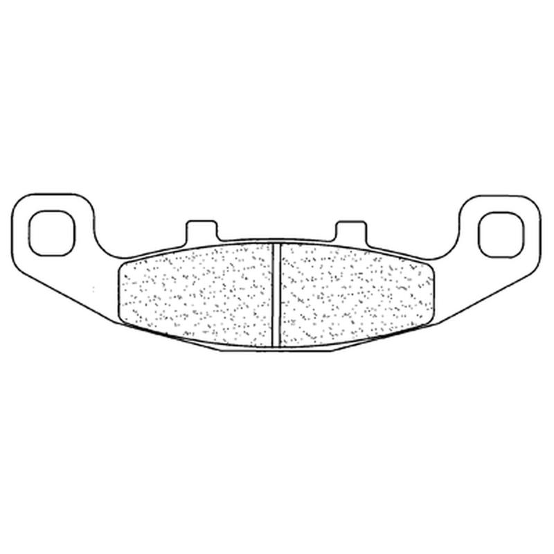 Plaquettes de frein CL BRAKES Racing métal fritté - 2304RX3