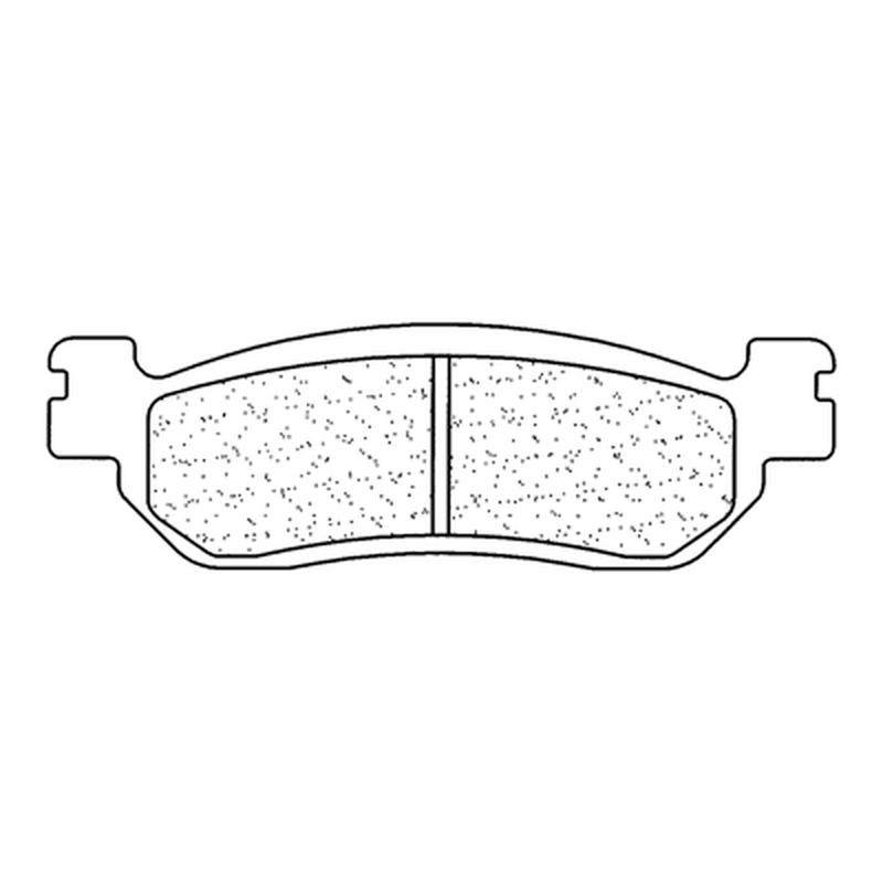 Plaquettes de frein CL BRAKES Racing métal fritté - 2828RX3