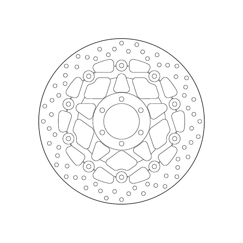 Disque de frein BREMBO Série Oro Flottant - 78B408A2