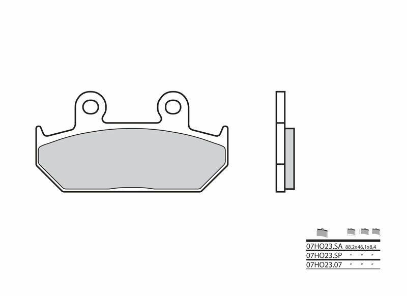 Plaquettes de frein BREMBO route métal fritté - 07HO23SA