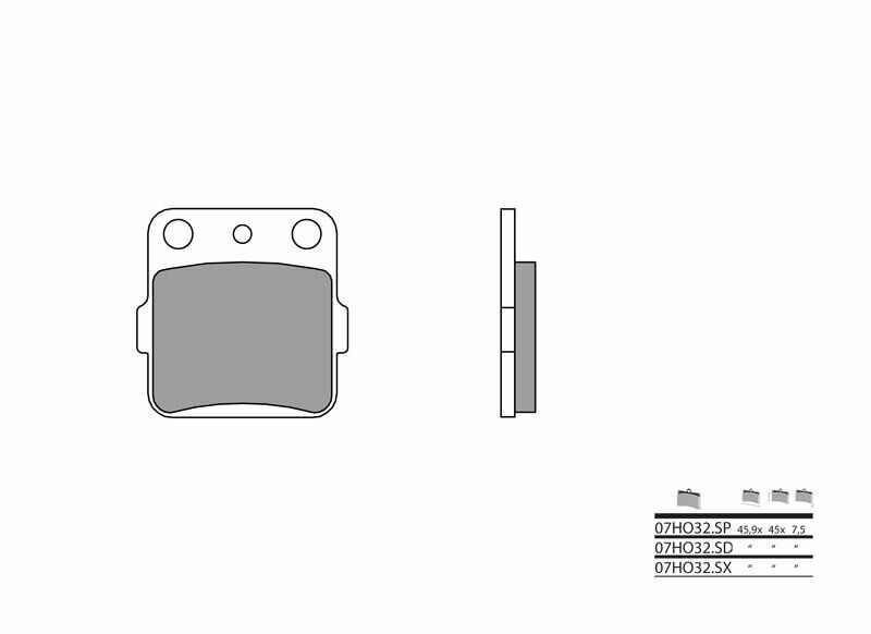 Plaquettes de frein BREMBO Off-Road métal fritté - 07HO32SX