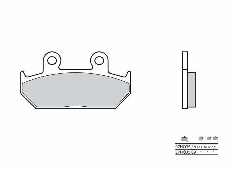 Plaquettes de frein BREMBO route métal fritté - 07HO35SA
