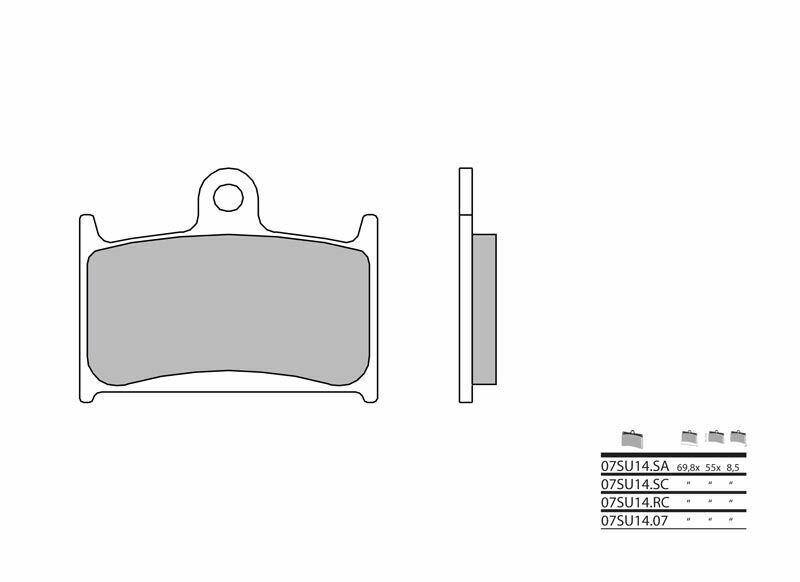 Plaquettes de frein BREMBO métal fritté - 07SU14SC