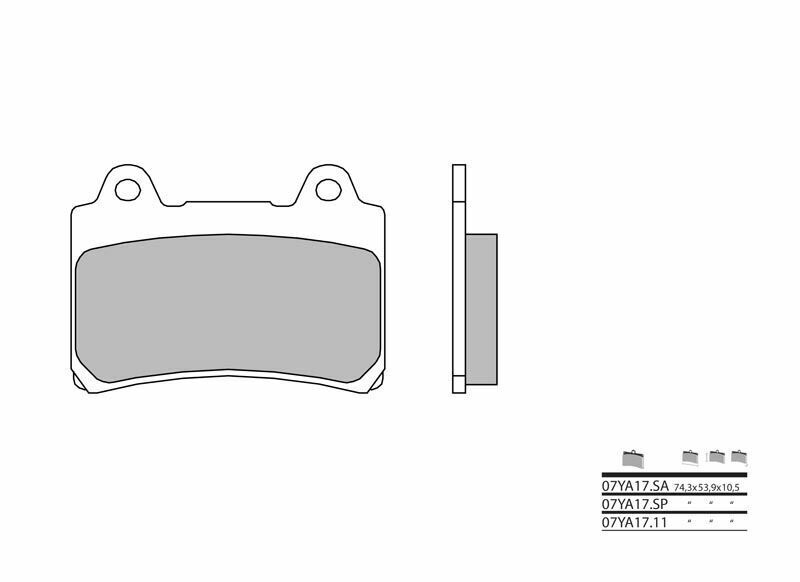 Plaquettes de frein BREMBO route métal fritté - 07YA17SA