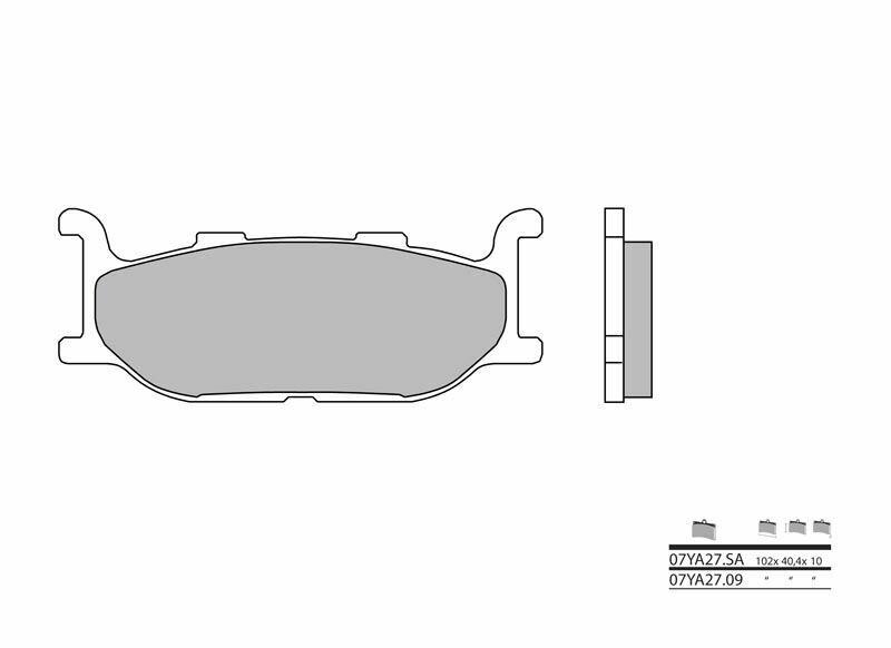 Plaquettes de frein BREMBO route métal fritté - 07YA27SA