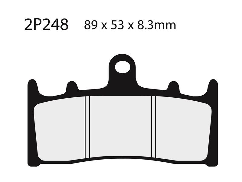 Plaquettes de frein NISSIN route /Off-Road métal fritté - 2P-248ST