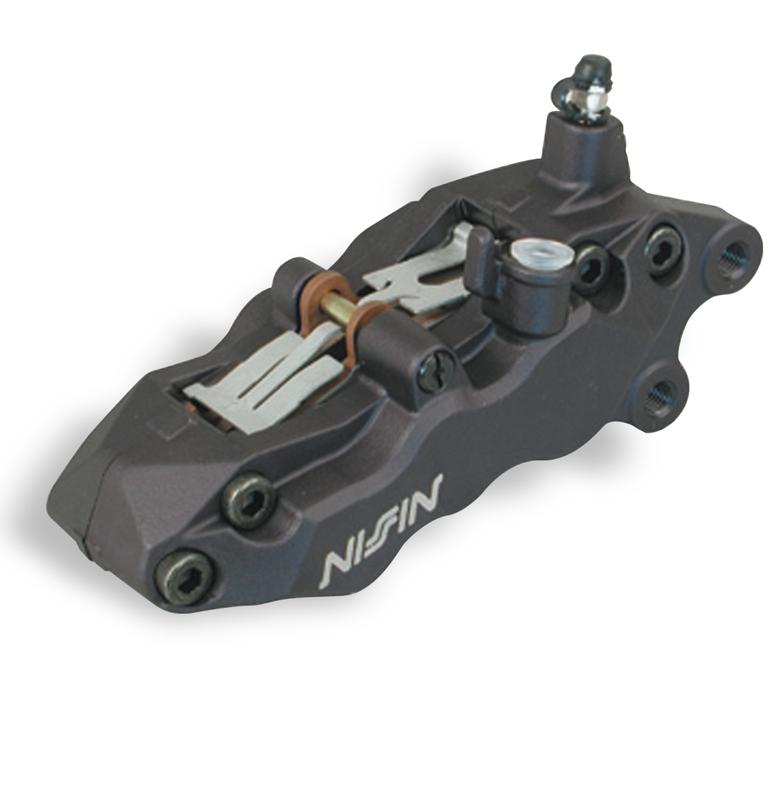 Etrier de frein 6 pistons avant gauche noir Nissin