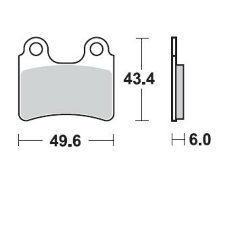 Plaquettes de frein BRAKING route/Scooter/Off-Road/Quad semi-métallique - 831SM1
