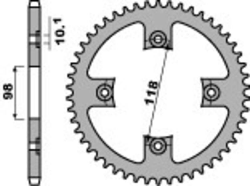 Couronne B1 acier standard - 520
