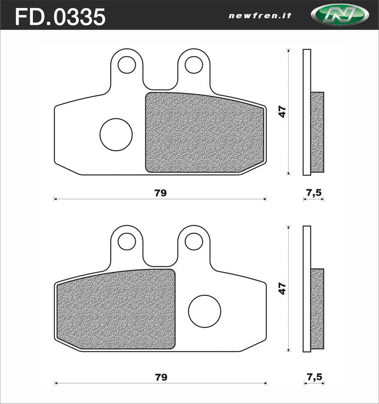 Plaquettes de frein NEWFREN Scooter organique - FD0335BE