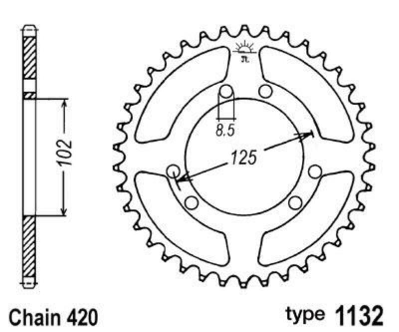 Couronne B1 acier standard - 420
