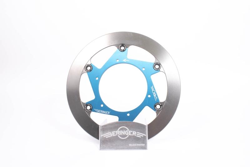 Disque de frein BERINGER Aeronal inox flottant bleu - KT6LGBLI