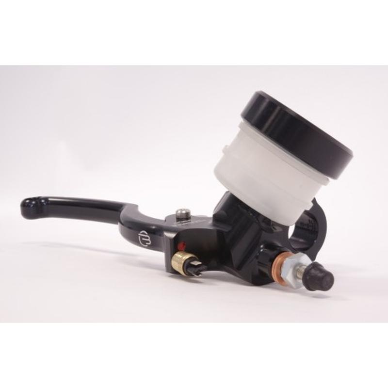 Maître-cylindre de frein axial BERINGER Classic Ø17,5mm bocal vissé noir (levier type A - 16cm argent)