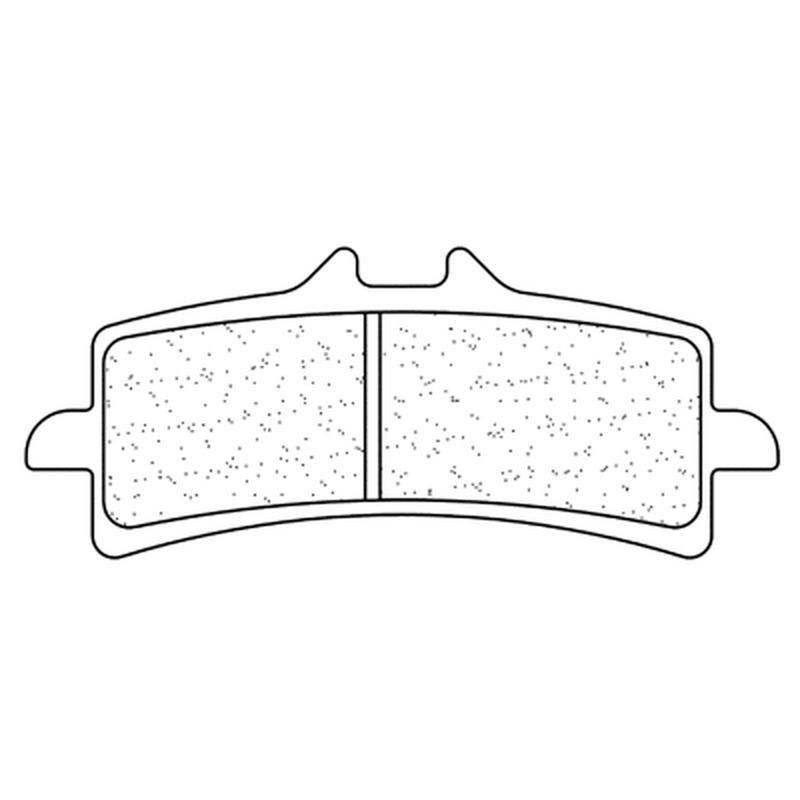 Plaquettes de frein CL BRAKES Racing métal fritté - 1185C60