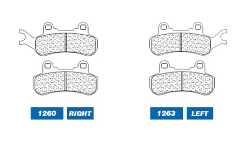 Plaquettes de frein CL BRAKES Quad métal fritté - 1260ATV1