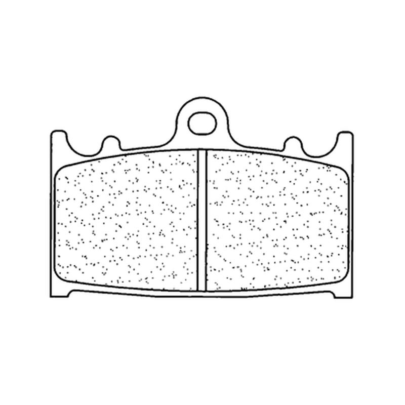 Plaquettes de frein CL BRAKES Racing métal fritté - 2251C60
