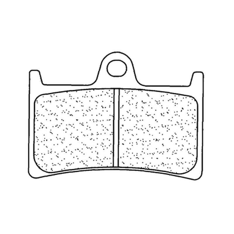 Plaquettes de frein CL BRAKES Racing métal fritté - 2361C60