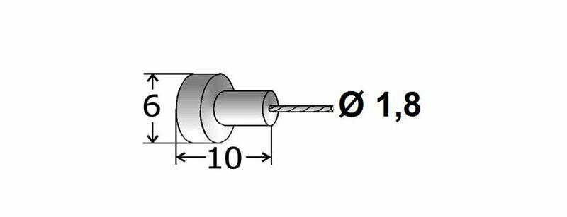 Cables de frein adaptables TRANSFIL - 1,80m