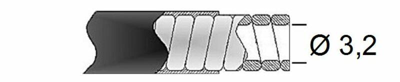 Gaine de frein 32/10 TRANSFIL - fil plat noir rouleau 15m