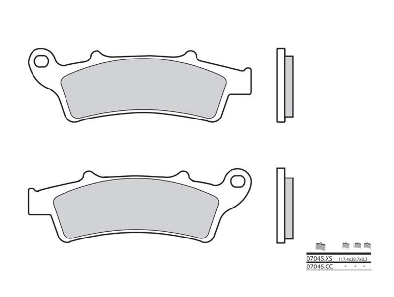 Plaquettes de frein BREMBO Scooter carbone céramique - 07045CC